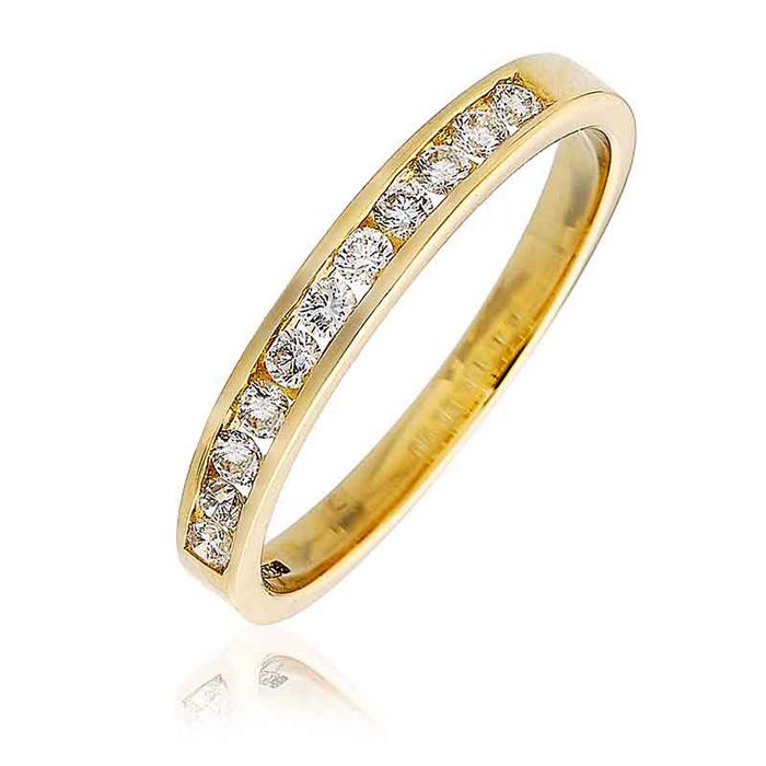Half Eternity Wishbone Ring Sapphire
