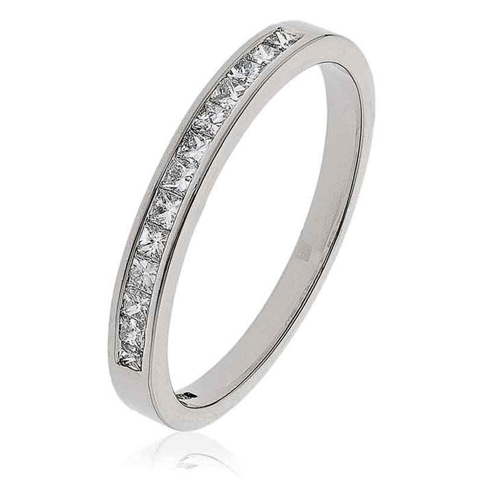 Diamond Princess Half Eternity Ring 0.25ct 18k White Gold