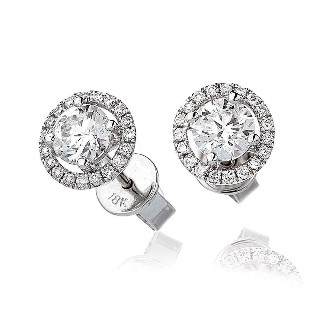 two products ocelle jewelry sphere stud zircon jacket piece earring halo