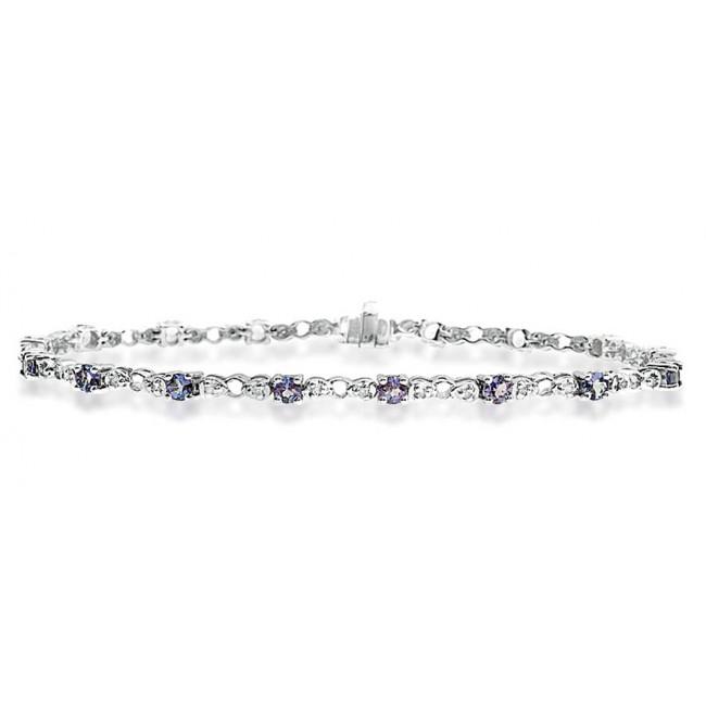 Bracelets Diamond and Tanzanite Bracelet