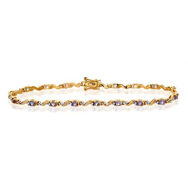Bracelets Diamond and Tanzanite Bracelet, 9k Gold