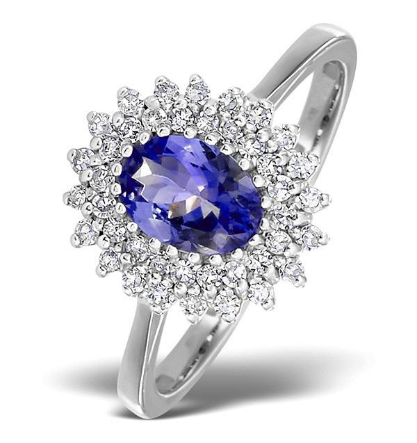Diamond and Tanzanite Ring 0.30ct White Gold