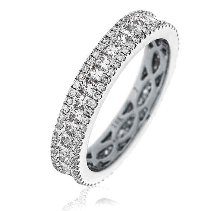Princess Diamond Eternity Ring 1.65ct 18k White Gold