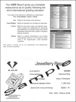 EDR Jewellery Report Example